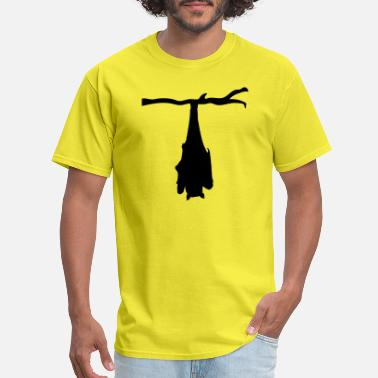 Bla Bla tree branch hanging bat silhouette upside down bla - Men's T-Shirt