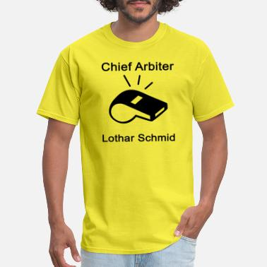 Arbiter Chief Arbiter Lothar Schmid Whistle Chess - Men's T-Shirt