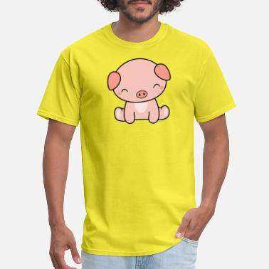 Cute And Kawaii Dog Kawaii Cute Pig - Men's T-Shirt