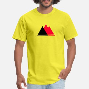 Red Triangle mountains triangle - Men's T-Shirt
