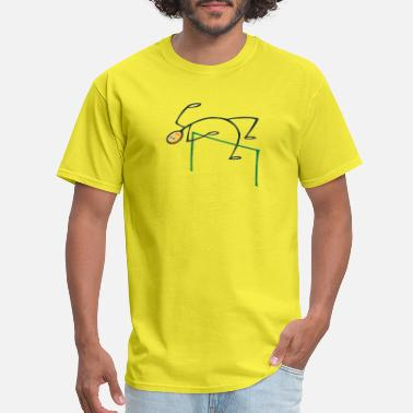 Stick Figure Jumping High Jump Stick man - Men's T-Shirt