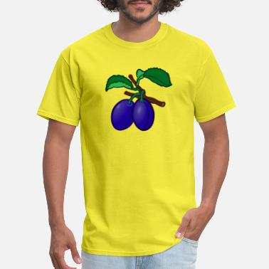 Plum plum pflaume veggie gemuese fruits8 - Men's T-Shirt