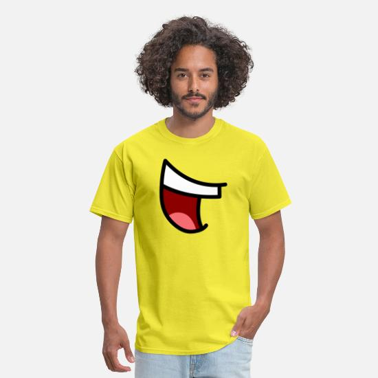 Prepare T-Shirts - Amazing Mouth - Men's T-Shirt yellow