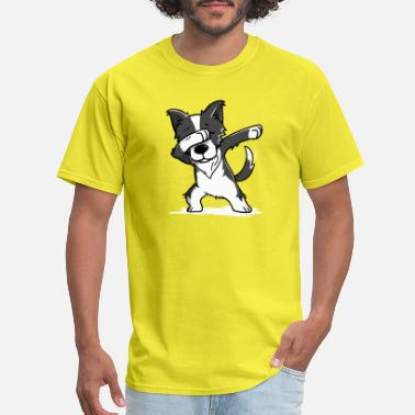 Collie Funny Border Collie Dabbing Dog Dab Dance - Men's T-Shirt