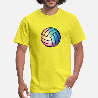 Art Keys Geometric Volleyball T Shirt Low Poly Shirt Volley - Men's T-Shirt