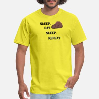 Eat Sleep Sleep eat sleep bear - Men's T-Shirt