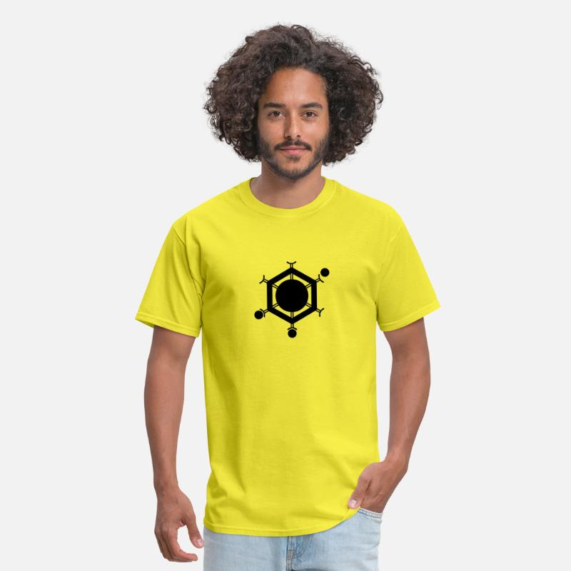 Symbol  T-Shirts - Social Media Connector - Space Age - Men's T-Shirt yellow