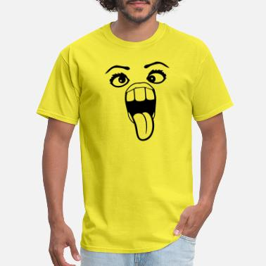 Crazy Eyes female girl squinting woman girl sexy pretty beaut - Men's T-Shirt