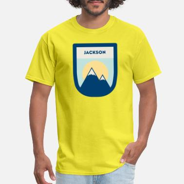 Jackson Hole Wyoming mtn badge JACKSON - Men's T-Shirt