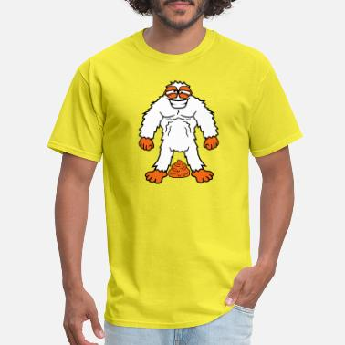 Funny Stink poop pile heap stink shit kot yeti monster comic c - Men's T-Shirt