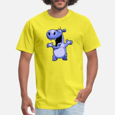 Fat Hippo Hippo - Men's T-Shirt