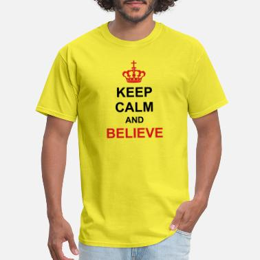 Royal Air Force crown keep calm and believe poster royal king cros - Men's T-Shirt
