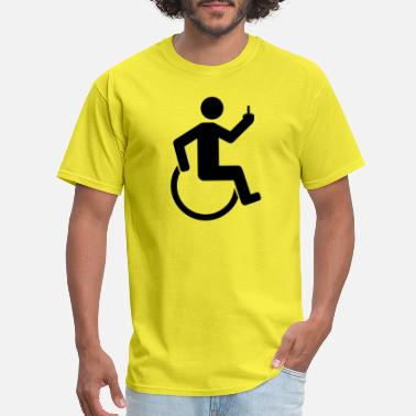 Fuck-you-you-fucking-fuck wheelchair offend middlefinger fuck you off disabi - Men's T-Shirt