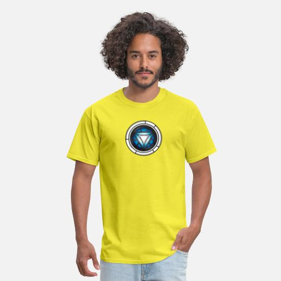 Tony T-Shirts - ARC REACTOR New Element - Men's T-Shirt yellow