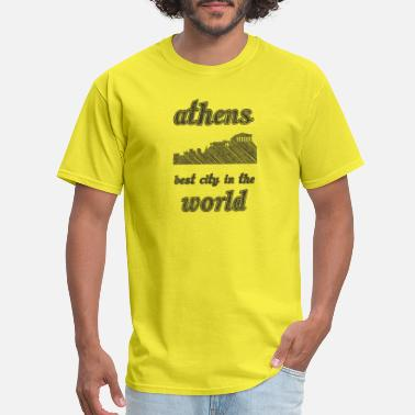 Worlds Best Tourist ATHENS Best city in the world - Men's T-Shirt