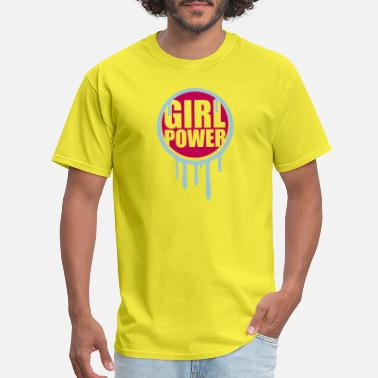 Chef Girl drop graffiti circle round girl power text saying - Men's T-Shirt