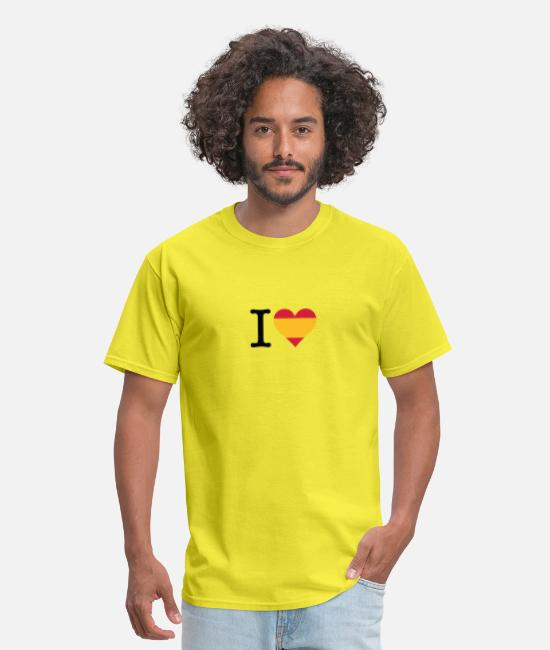 Don Quijote T-Shirts - I Love Spain - Men's T-Shirt yellow
