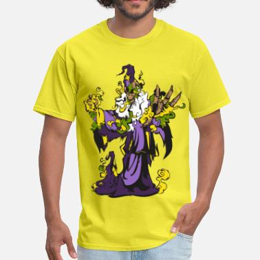 Wizard Skeleton Wizard - Men's T-Shirt