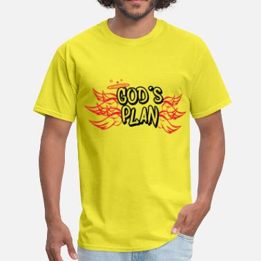 Gods Plan Gods Plan Red - Men's T-Shirt