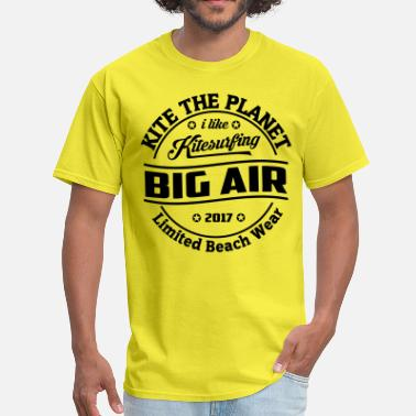 90s Surfing Kite The Planet Big Air free color - Men's T-Shirt