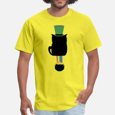 Shite St. Patricks Day Cat Shit Luck - Gold with Rainbow - Men's T-Shirt