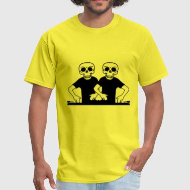 team, couple, two, friends, duo, skeleton, skull, - Men's T-Shirt