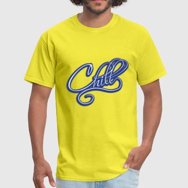 blue chill relaxed relax calm upset calm approach - Men's T-Shirt