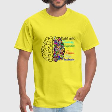 Right brain - Men's T-Shirt