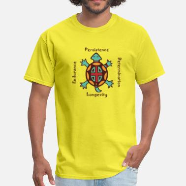 Native American Turtle animal spirit - Men's T-Shirt