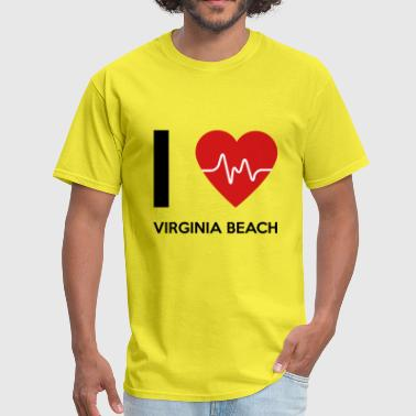 I Love Virginia Beach - Men's T-Shirt