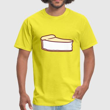 cake cheesecake cutlery plate delicious hunger foo - Men's T-Shirt