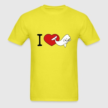 i love heart love gray whale blue whale pot whale - Men's T-Shirt