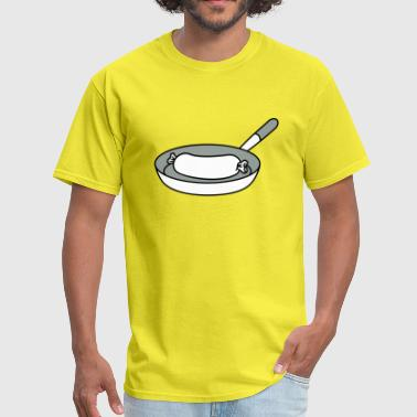 sausage cook cook barbecue food delicious hunger c - Men's T-Shirt
