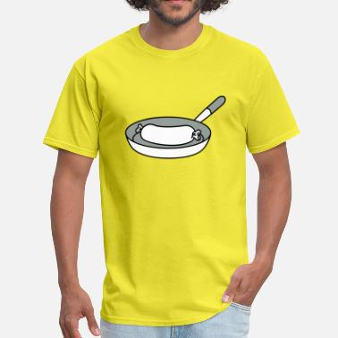 Breakfast Food sausage cook cook barbecue food delicious hunger c - Men's T-Shirt