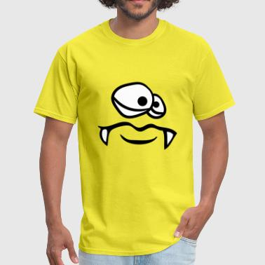 face head monster funny evil dangerous clipart car - Men's T-Shirt