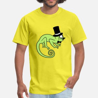 Rich Man Sir gentleman cylinder hat monocle glasses rich ma - Men's T-Shirt