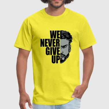 Holding we never give up never give up hold out team crew - Men's T-Shirt