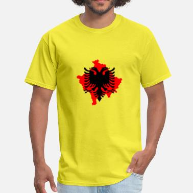 Albanian Eagle Kosovo red albanian eagle dobble head kosovo symbol - Men's T-Shirt