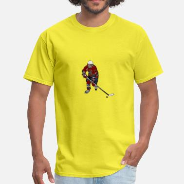 Ice Hockey Comic Comic female ice hockey player - Men's T-Shirt