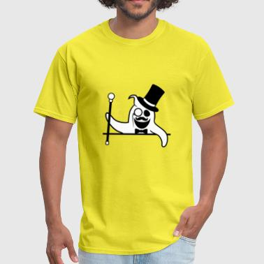 text area sir gentleman gentlemen rich monocle cyl - Men's T-Shirt