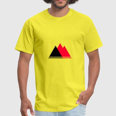 Red Rose Black mountains triangle - Men's T-Shirt