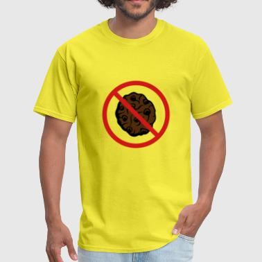 Snacks zone forbidden shield no cookie biscuit chocolate - Men's T-Shirt