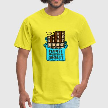 Pianist Powered By Chocolate - Men's T-Shirt