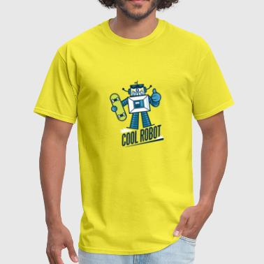 Retro Robot Skateboarding cool retro robot - Men's T-Shirt