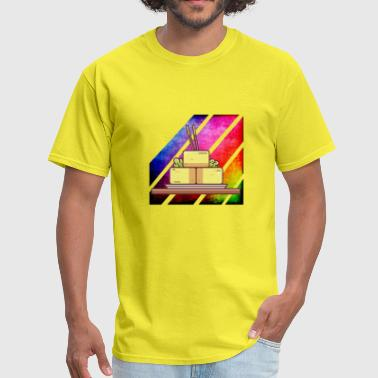 Colorful Retro Tofu - Men's T-Shirt