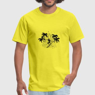 surf t shirt for summer 2018 new design - Men's T-Shirt
