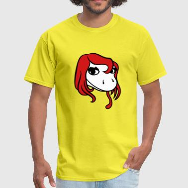 Girly Designs head face female woman pretty girl girl sexy lizar - Men's T-Shirt
