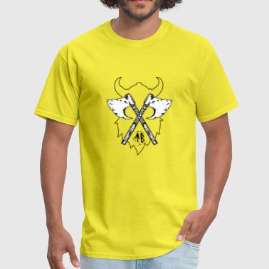 tiwaz Viking Axe, Greeting from Valhall - Men's T-Shirt
