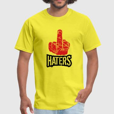 show wanker fuck off you hand middle finger cool h - Men's T-Shirt