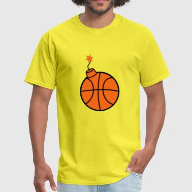 throw basketball ball play club sport gate shoot k - Men's T-Shirt